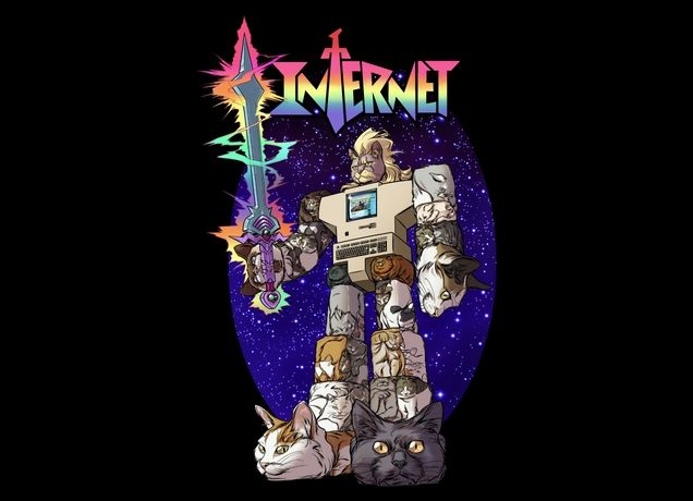 Amazing.  Threadless: The Internet is Made of Cats T-shirt.  It is.  #Voltron