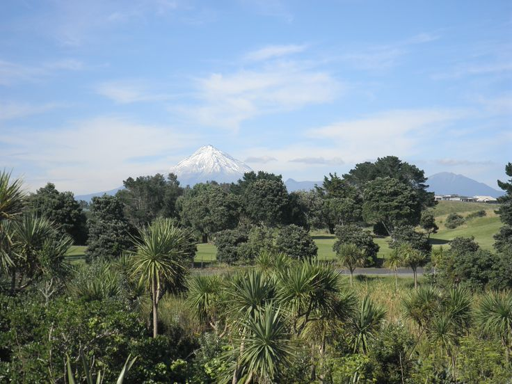 Mount Egmont from the New Plymouth Coastal Walkway.