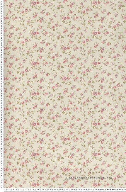Fleurs Cottage Rose Papier Peint Lut Ce Liberty Pink
