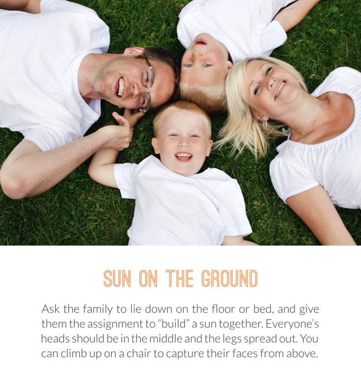 Prompt: Ask the family to lie down on the ground and create a sun! Photographing Children. (Beloved Technique)