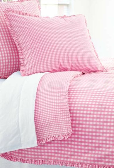 Pink table cloth and pillows