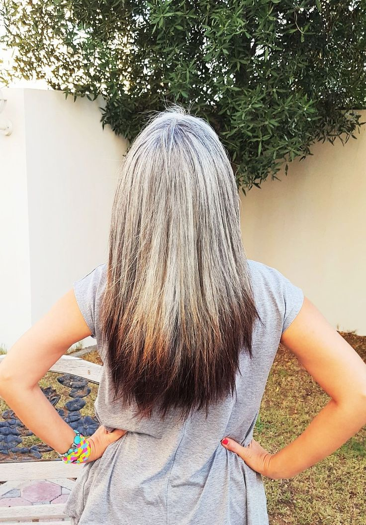 Transition to gray hair. Silver hair. White hair. Salt and pepper gray. Grey. Granny hair. Aging and going gray gracefully.