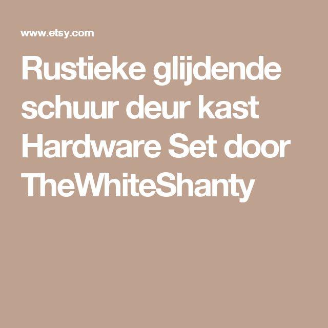 Rustieke glijdende schuur deur kast Hardware Set door TheWhiteShanty