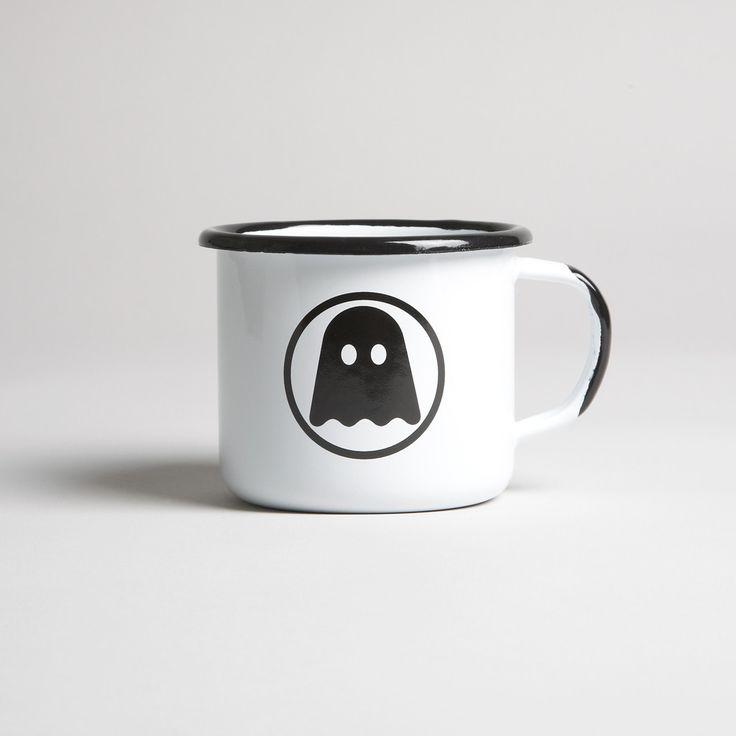Ghostly Enamelware Mug
