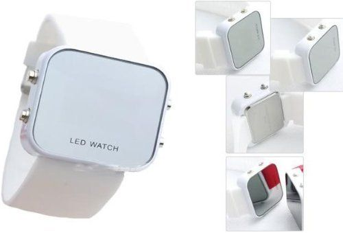 Mirror Men Lady LED Digital Sport Unisex Watch Gift Jelly(Only White Now) $3.14 - SAVE 85%