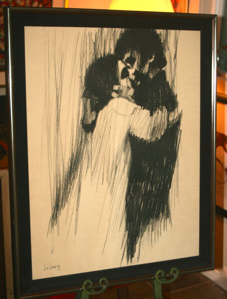 Vintage Aldo Luongo Quot Young Lovers Quot 1969 Framed Print