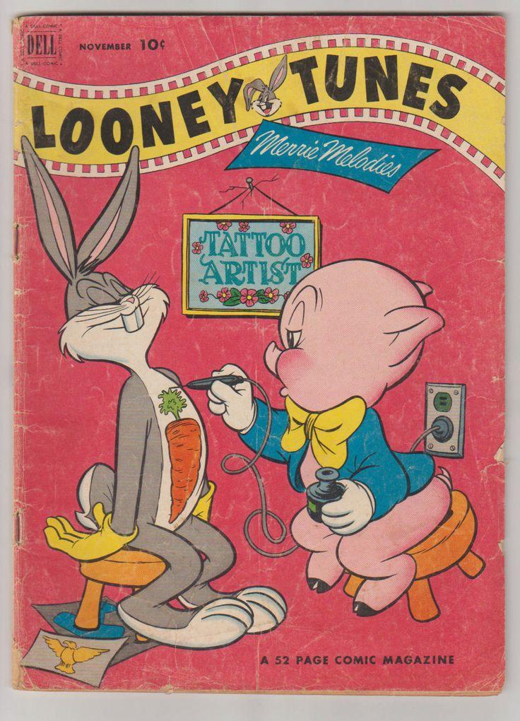 Looney Tunes and Merrie Melodies; Vol 1, 133 Golden Age Comic Book.  VG-. November 1952.  Dell Comics #looneytunes #goldenagecomics #comicsforsale