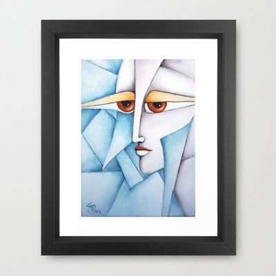 The Puzzle Oil on Canvas board  Framed Art Print by SimonaMereuArt - $45.00