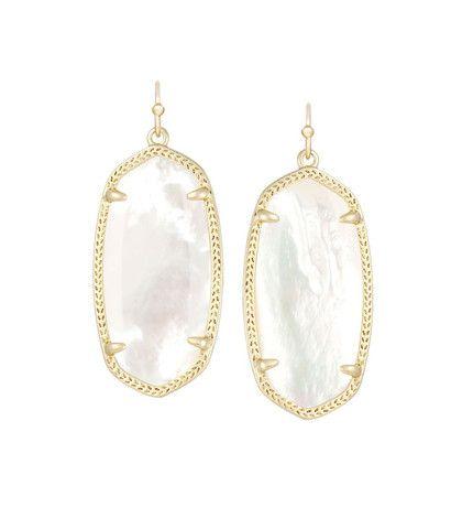 Kendra Scott Elle Ivory Pearl Earrings 14K Gold Plated – Blue Daisy