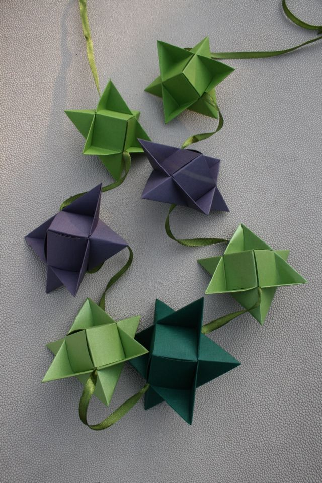 I made a lot of christmas stars - put it on a string...