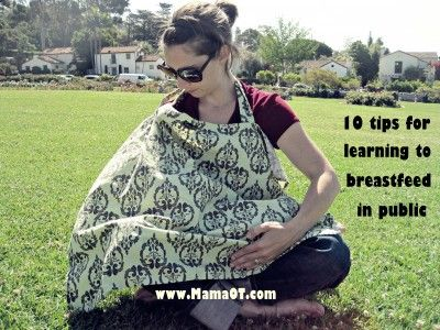 10 tips for learning to breastfeed in public