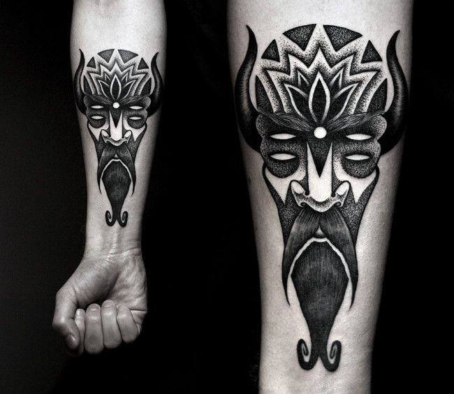 Best Kamil Czapiga TATTOO Images On Pinterest Blackwork - Mythical creatures are brought to life in these stunning black ink tattoos
