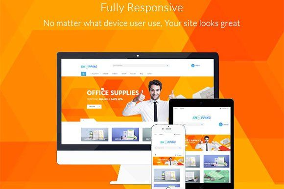 Leo Shopping Office Responsive by LeoTheme on @creativemarket