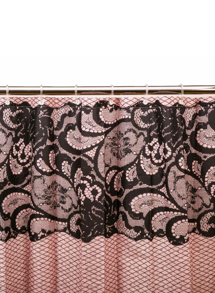 A loja do gato preto cortina renda rosa preta - Cortinas el gato preto ...