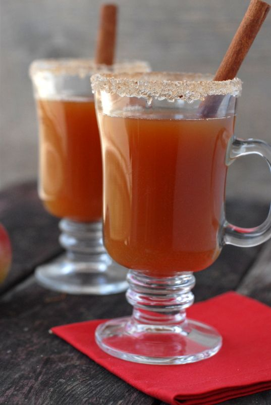 Hot Mulled Apple Cider with Rum! A nice idea for a good fall/winter wedding cocktail.