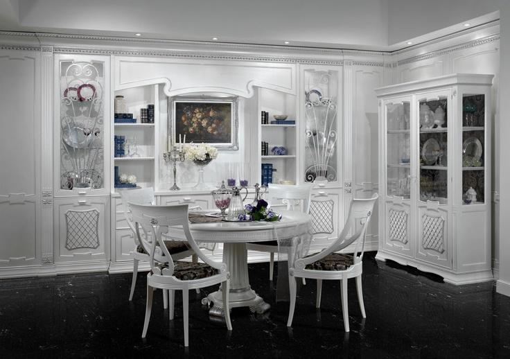 Luxusní vybavení pro jídelní místnost v sněhově bílém provedení. Více na: http://www.saloncardinal.com/arca-f50
