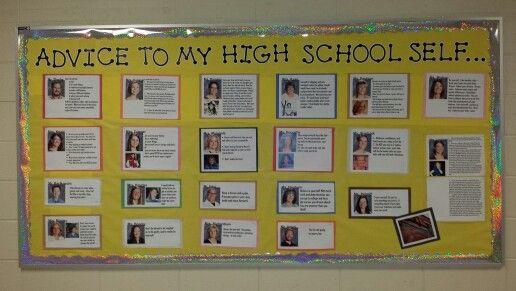 High school bulletin board ideas...advice to my high school self.