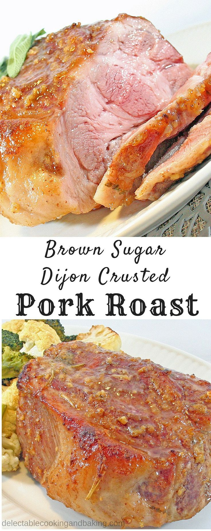 I love easy dinners, and this Brown Sugar Dijon Crusted Pork Roast definitely qualifies as easy…it's not only easy, but the resting period after roasting it allows for plenty of time to finish off your veggies or other side dishes. Plus, it's a crowd-plea