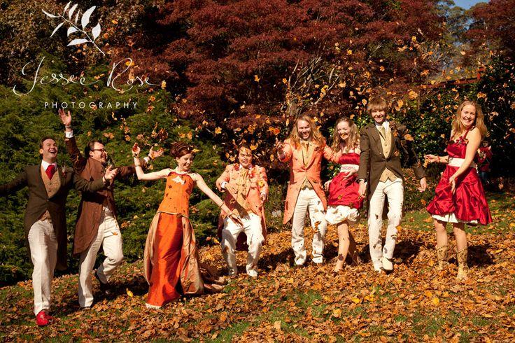 Dale & Christopher @ Jessie Rose Photography - autumn, wedding, bride, groom, love, diy, silk, orange