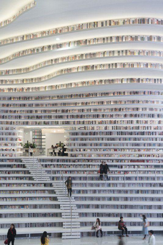 #Architecture: New Futuristic #Library in China with 1.2 Million Books
