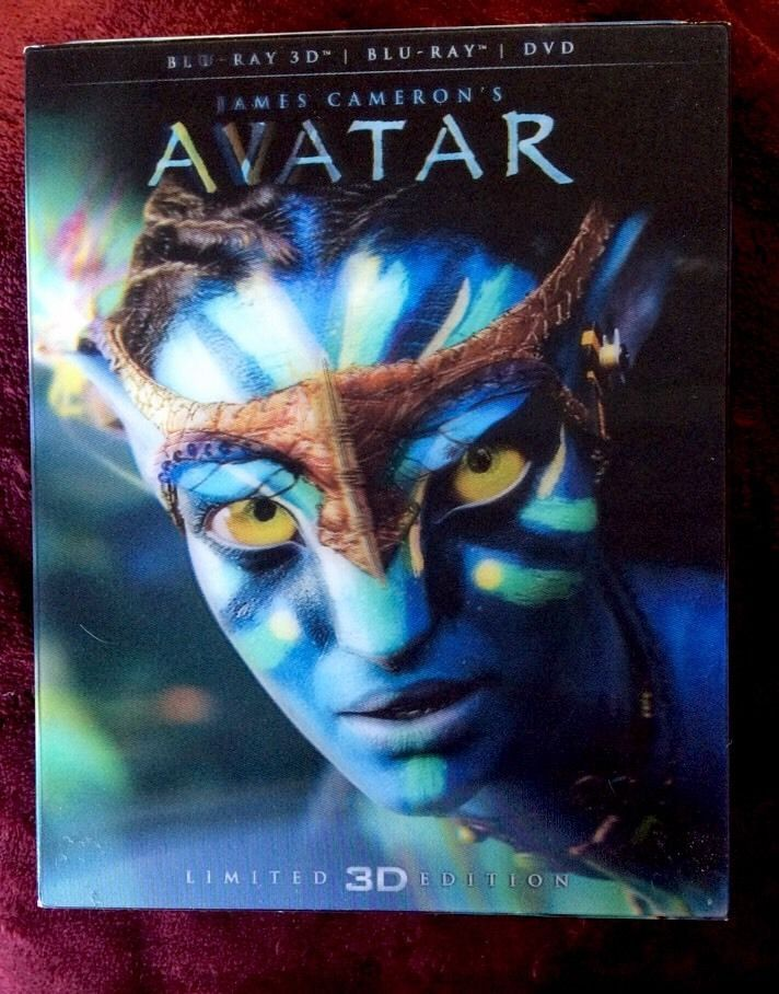 Avatar (3D Blu-ray, 2012)Lenticular Edition Artwork Slipcover Bluray 3D/2D + DVD