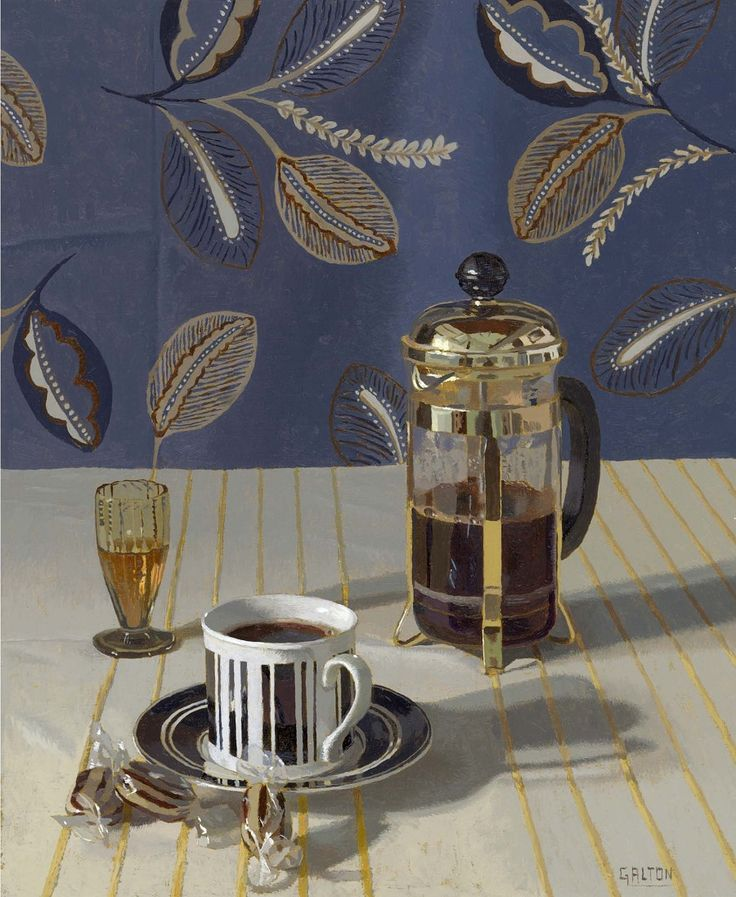 Jeremy Galton   (b.1949) —  Coffee (900x1097):