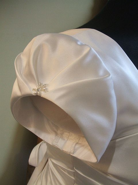 Cute sleeve for a wedding gown. I created this for Bridal Image. This is serious fun!