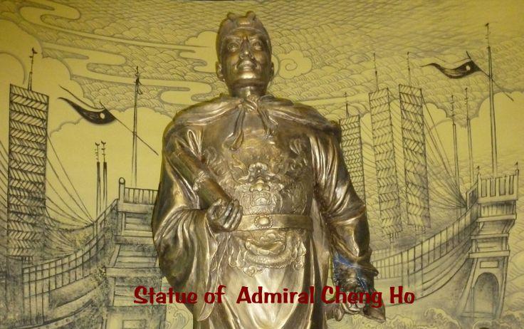 China.Silk Road.Yinchuan. Hui Museum @ Hui Culture Park -Statue of Admiral Cheng Ho .