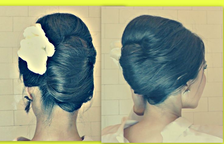 ★FRENCH TWIST YOUR OWN HAIR TUTORIAL  BIG BOUFFANT UPDOS FOR LONG HAIR  PROM WEDDING HAIRSTYLES, via YouTube.