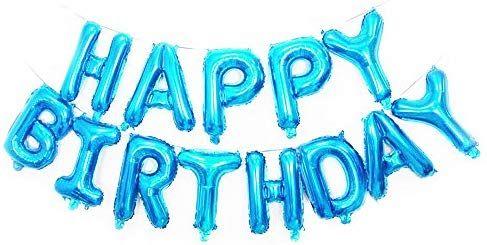 Amazon Happy Birthday Foil Balloons Letters Balloon Blue Toys Games