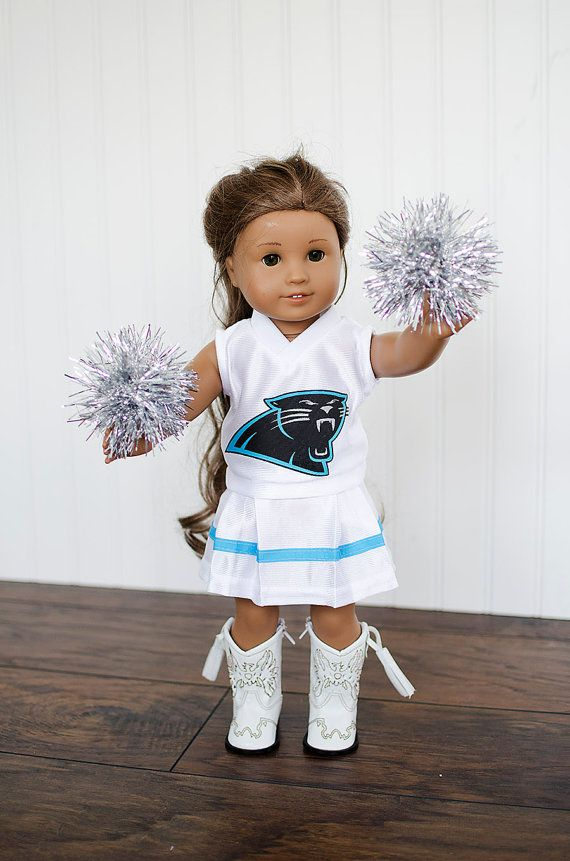 American Girl Doll NFL Carolina Panthers football by janscraftroom, $30.00