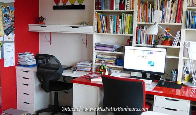 bureaux cote a cote pour ordis chambre du fond pinterest pi ce de loisirs cr atifs bureau. Black Bedroom Furniture Sets. Home Design Ideas