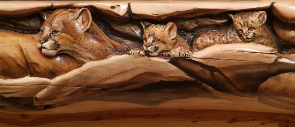 Carved - Mountain Lion Close Up