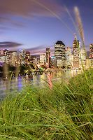 Brisbane City from Kangaroo Point at twilight | Fred McKie Photography