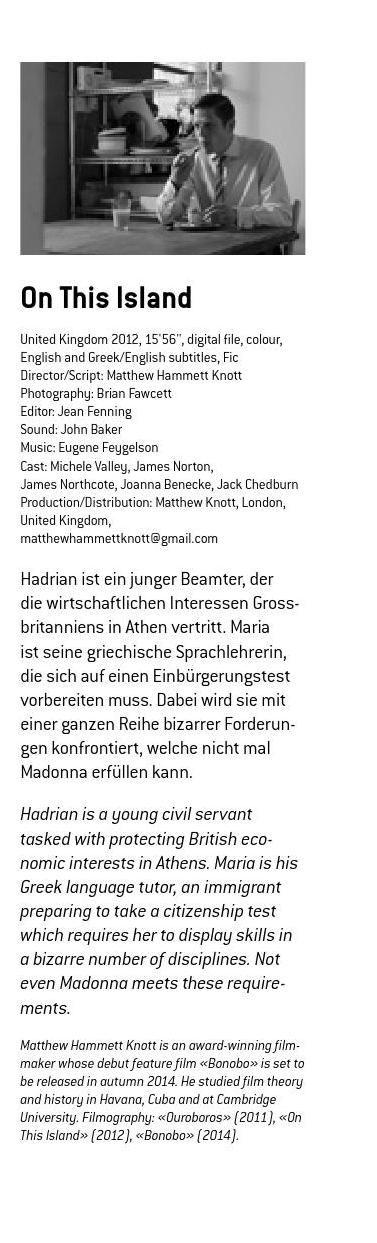 #ClippedOnIssuu from Katalog – 18. Internationale Kurzfilmtage Winterthur