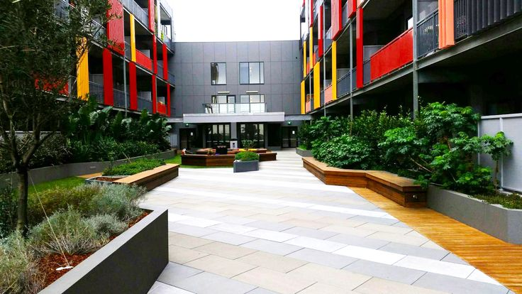 Apartment Courtyard Landscaping -  Completed Project (Footscray Plaza).  www.landworkslandscaping.com.au