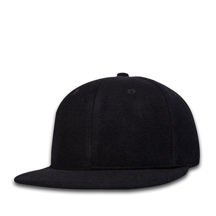 2017 quality woolen gorras planas snapback Adjustable  Black Baseball Cap hip hop hats Pure color+Breathable cappellini