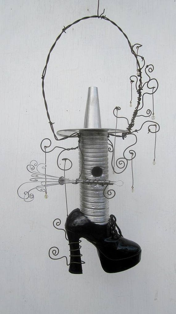 Etsy Transaction - Steamy Wisps Copper Teapot Birdhouse Reclaimed Art