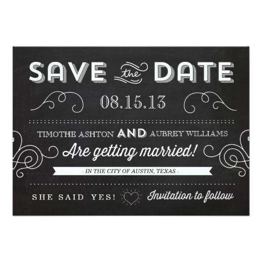 202 best Vintage Save the Date Cards images on Pinterest Card - save the date template