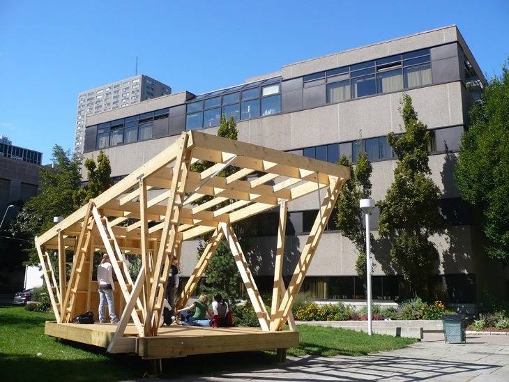 Temporary Wooden Structures Project Arquitectura