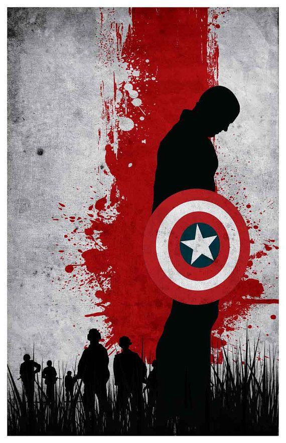Vintage Avengers Movie Poster Set por MINIMALISTPRINTS en Etsy