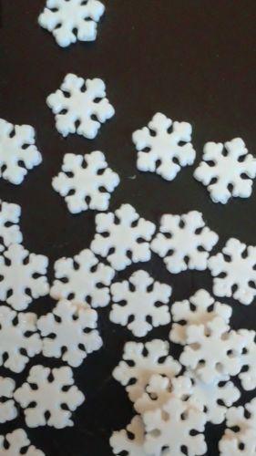 36-SNOWFLAKE-jewelry-connectors-white-acrylic-FROZEN-scrapbook-CUTE-DIY-G17