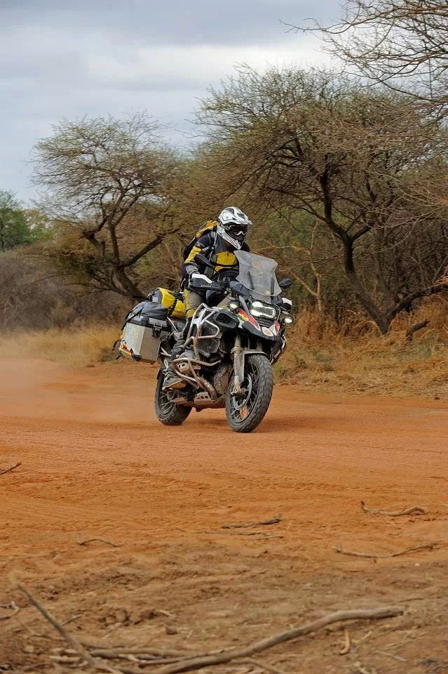 Hans had been running the Avon Gripsters to good effect on his African tour. They were aggressive enough for the dirt and gravel, but not too rough for the bitumen. Mind you, some of the bitumen was pretty rough as well.
