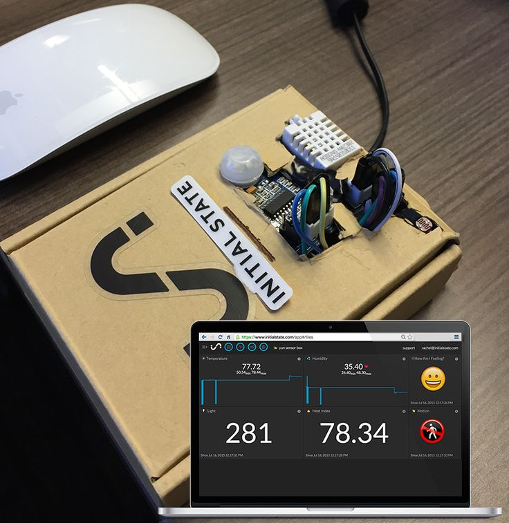 Stream data from your Arduino with this sensor box tutorial. See data like temperature, humidity and motion in a real-time dashboard.