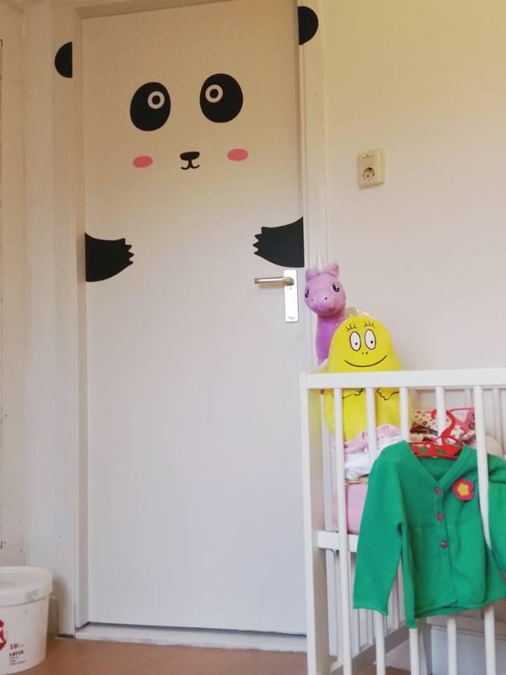 peppi panda door decal for kawaii nursery