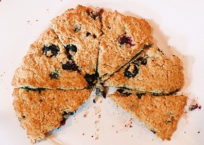 When youre hosting a brunch theres no better way to treat your guests to a lovely weekend meal than by serving warm scones right out of the oven...gluten-free, low-sugar, high-fiber, protein-packed paleo ones. These areexactly what I served last weekend when I had people over for brunch and they were a hugehit. They are so easy to make and quite frankly I think they taste better than any store-bought scones that aremade with regular flour and tons of butter and sugar. Enjoy making ...
