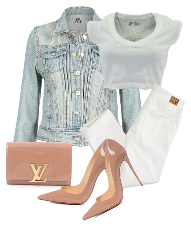 """Untitled #3421"" by breannamules ❤ liked on Polyvore featuring American Eagle Outfitters, Louis Vuitton and Christian Louboutin"