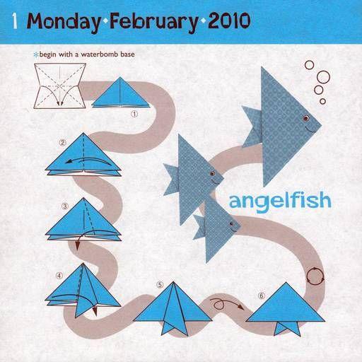 Instructions for angelfish How To Make Origami Fish Step By Step