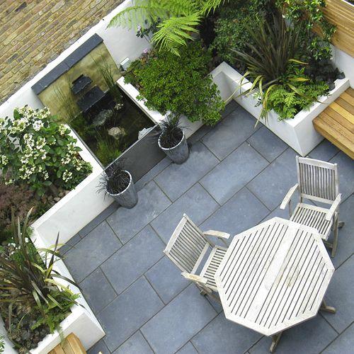 The black limestone flooring / on TTL Design