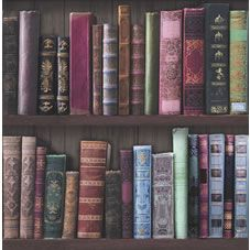 Fresco Bookcases Multi Wallpaper